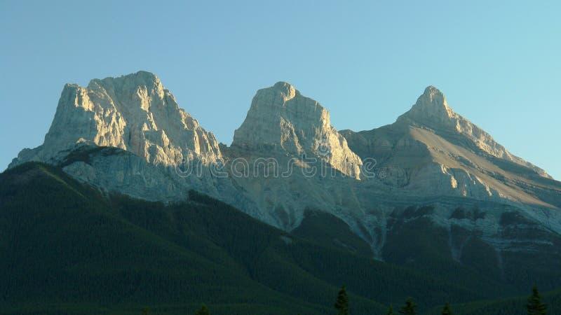 岩石加拿大的山 库存图片