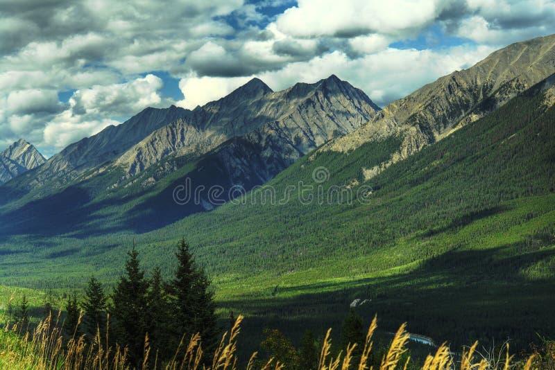岩石加拿大的山 免版税库存图片
