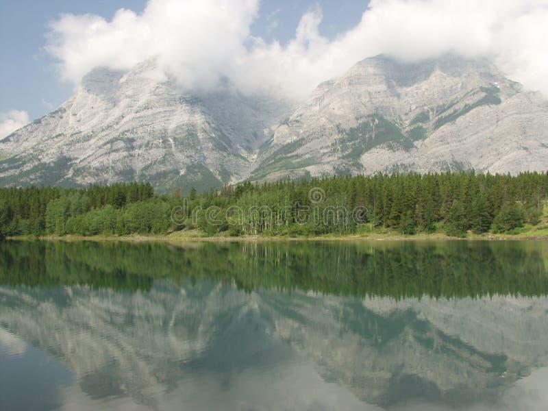 岩石加拿大的moutains 库存照片