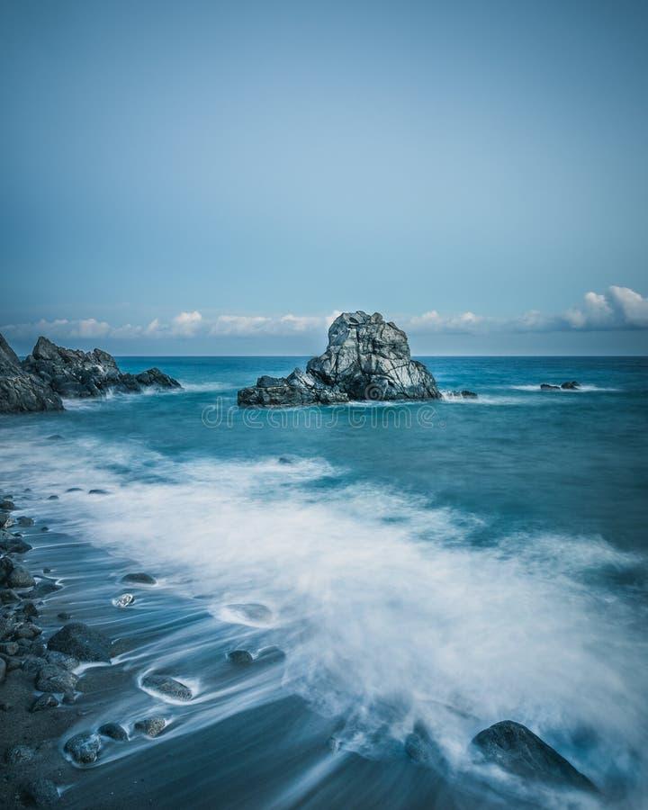 岩石告诉了La Pietragrande & x28; 大Rock& x29; 库存照片