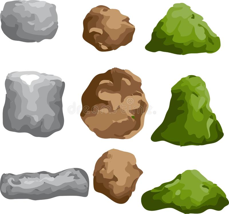 岩石和石集合 皇族释放例证