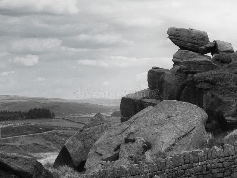 岩石和荒野 库存照片