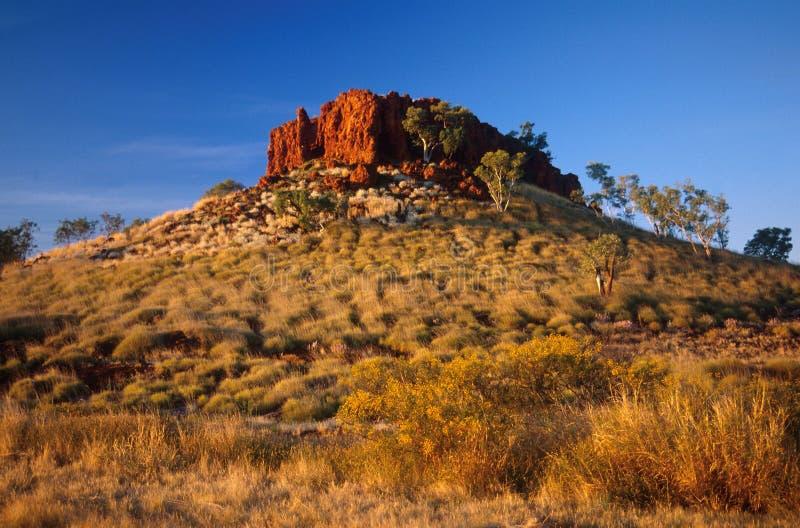 岩石在内地的露出 库存图片
