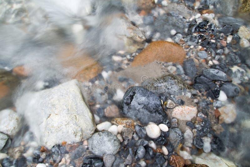 岩石在河本质上 库存照片