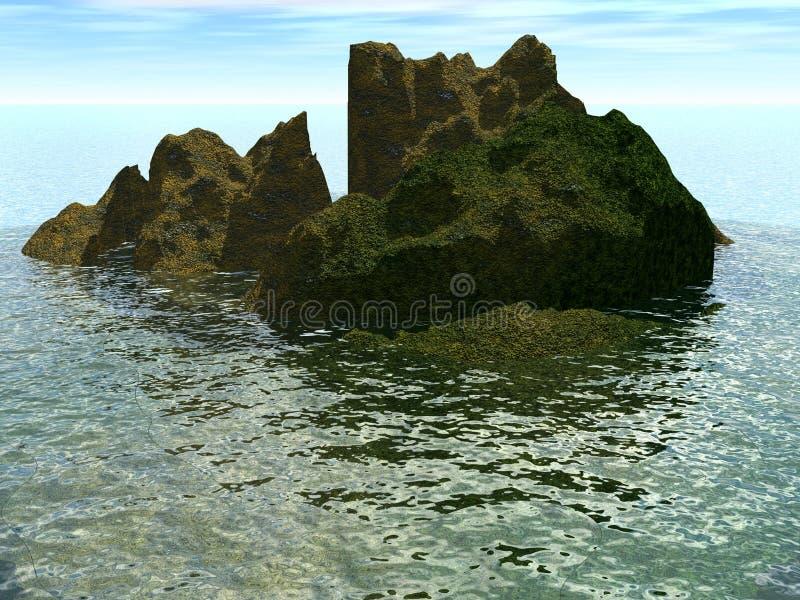 岩石在海运 向量例证