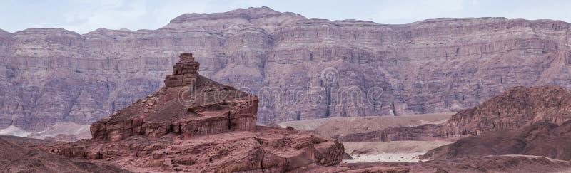 岩石在timna国立公园叫螺旋小山 免版税库存照片
