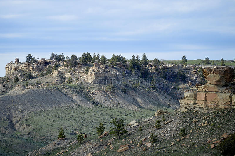 岩石地形,怀俄明 库存图片