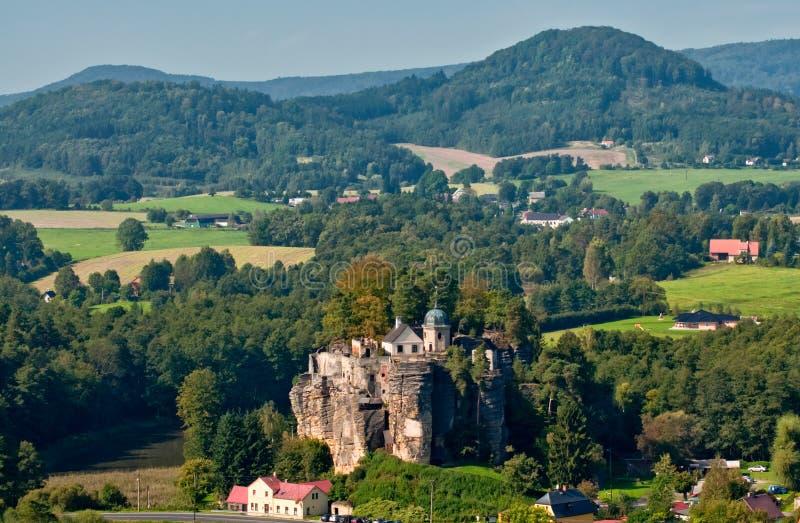 岩石城堡Sloup 免版税库存照片