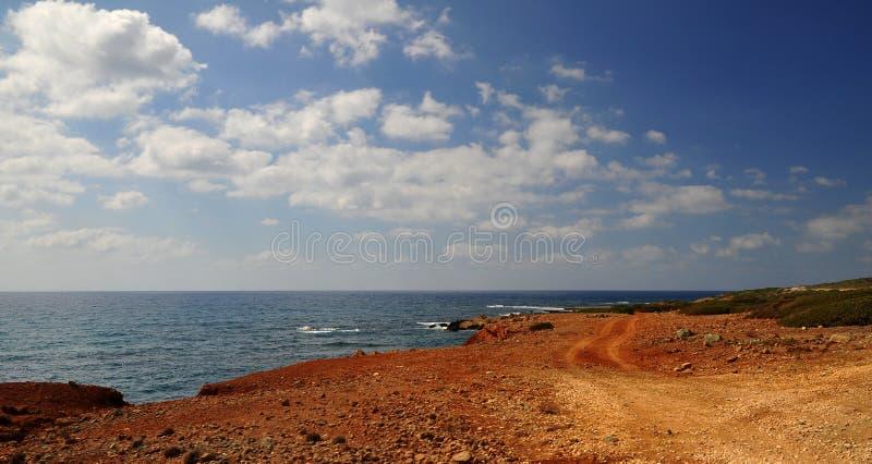 岩石塞浦路斯的路 免版税库存照片
