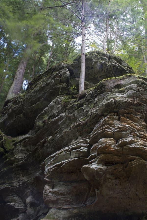 岩石墙壁,灰洞,俄亥俄 库存图片