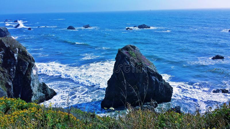 岩石太平洋 库存照片