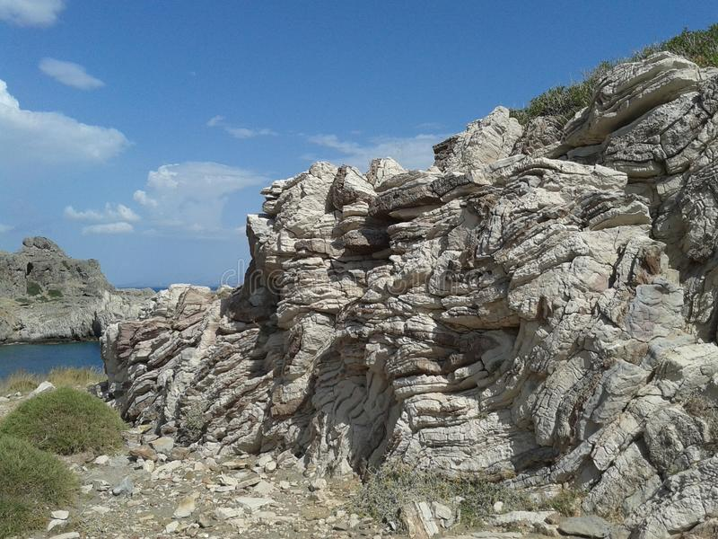 岩石层化了 免版税库存图片