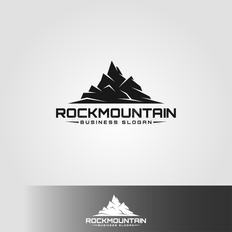 岩石山-体育和冒险商标 皇族释放例证