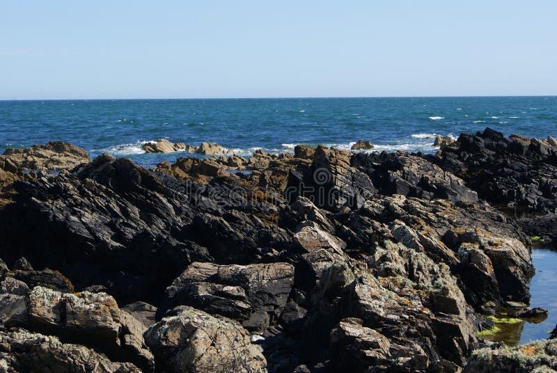 岩石岸 图库摄影