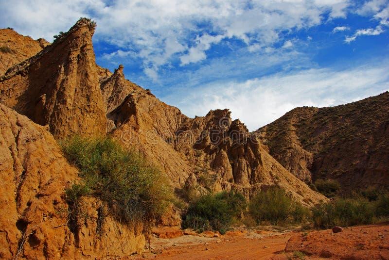 岩石峡谷传说 库存图片