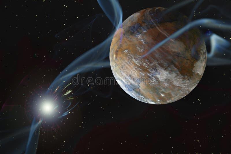 岩石干燥外籍人行星 向量例证