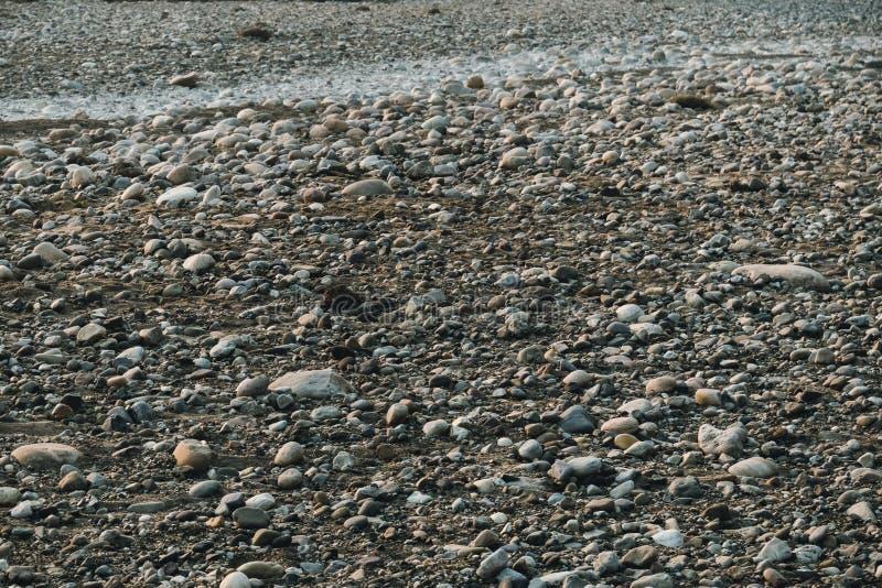 岩石干燥河床 库存图片