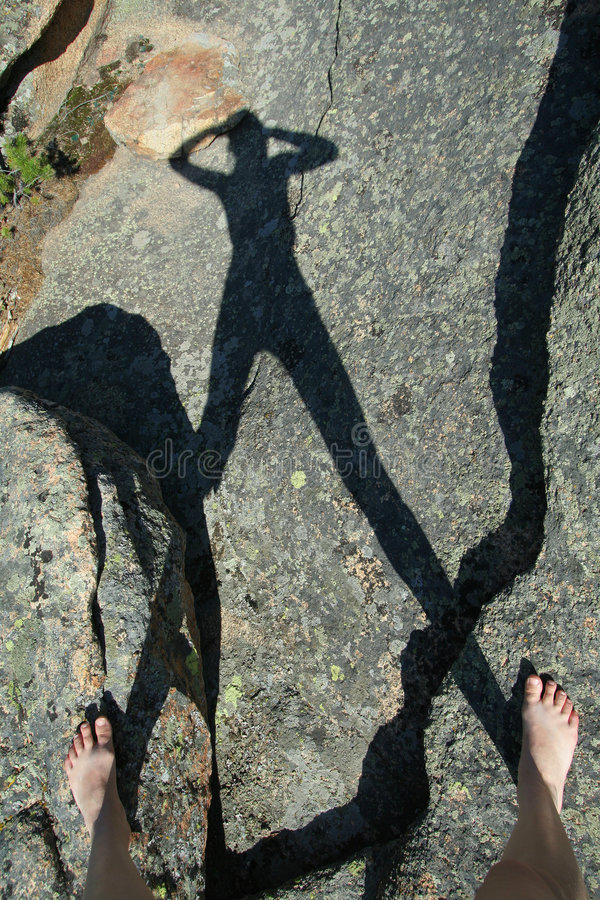 岩石影子 库存图片