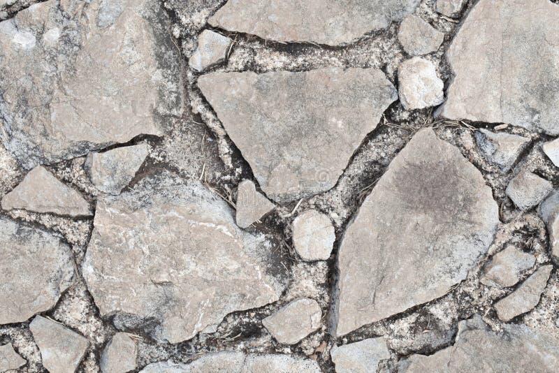 岩石打破的纹理 免版税图库摄影