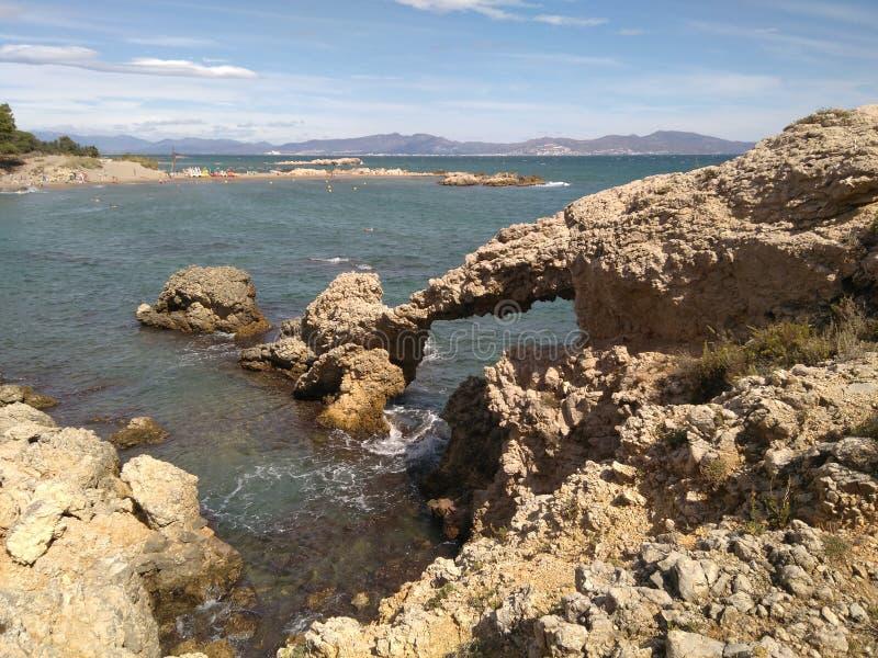 岩石曲拱 库存照片