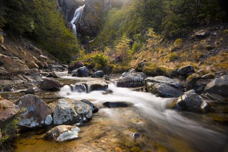 岩石流谷 免版税库存照片