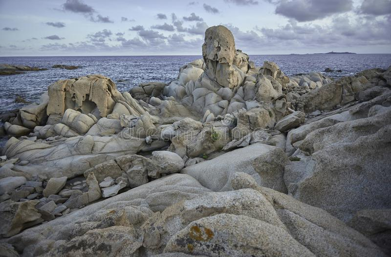 岩石海景 免版税图库摄影