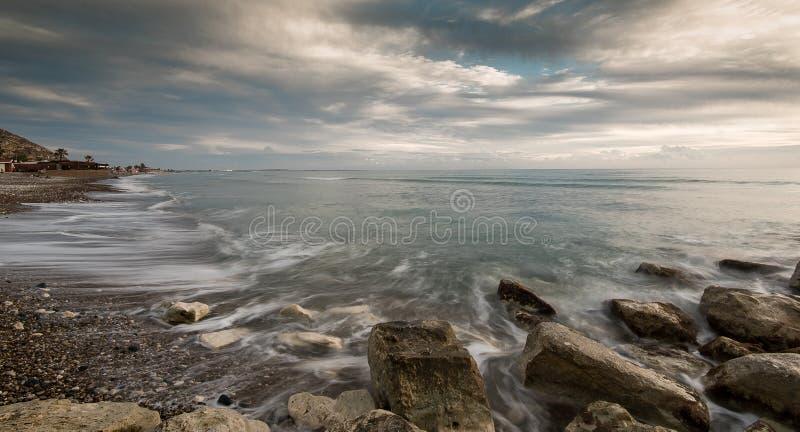 岩石海景 免版税库存图片