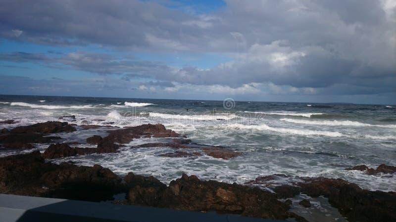 岩石海滩乌拉圭 免版税图库摄影