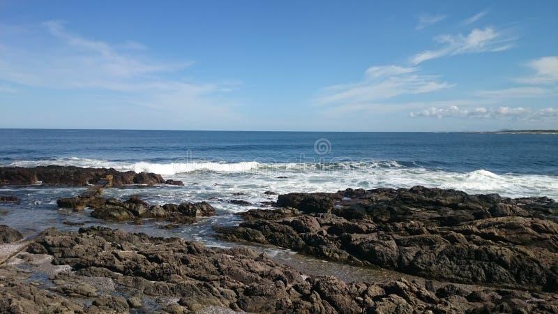 岩石海滩乌拉圭 图库摄影