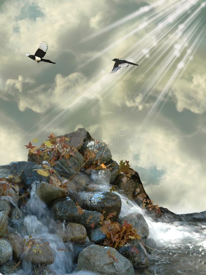 岩石海运 免版税库存图片