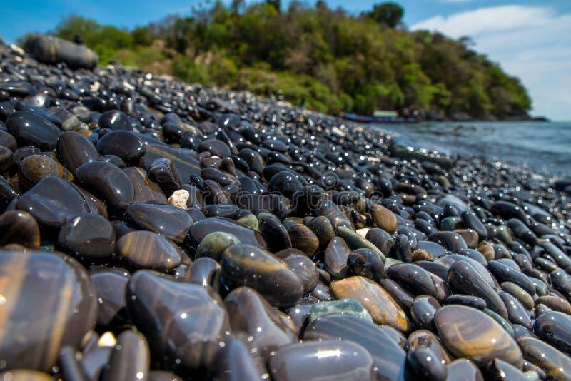 岩石海滩 库存照片