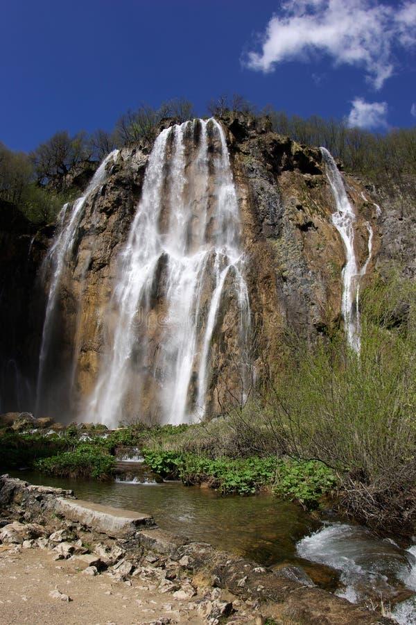 岩石瀑布在乡下 库存照片