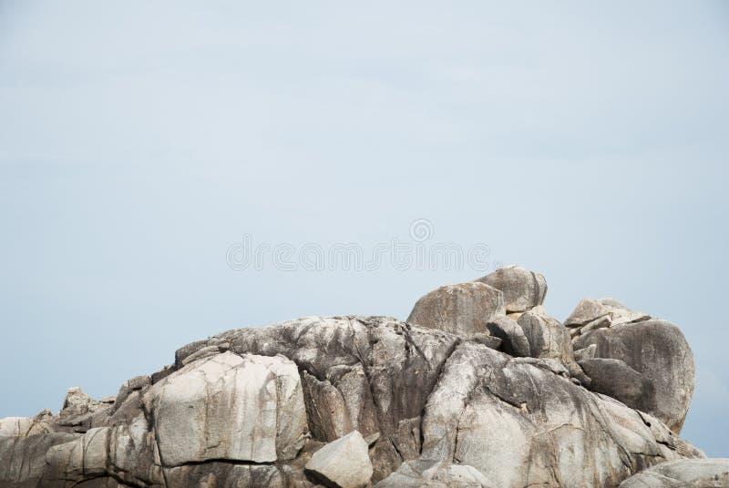 岩石的上面 库存图片