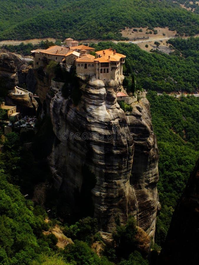 岩石的修道院 免版税库存照片