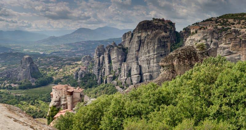 岩石的古老修道院 图库摄影