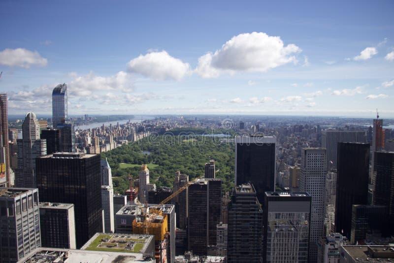 岩石的曼哈顿-纽约-中央公园上面 库存图片