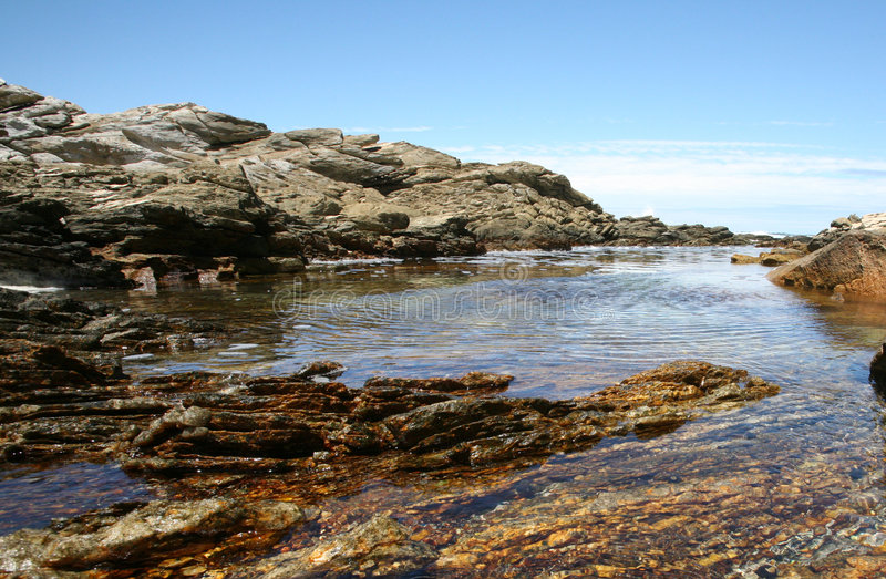 岩石的池 免版税图库摄影