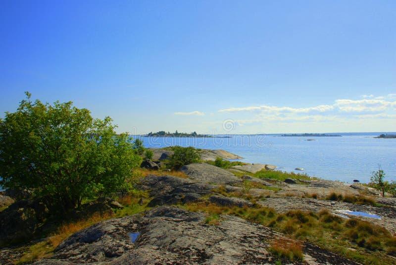 岩石的海岸 库存图片