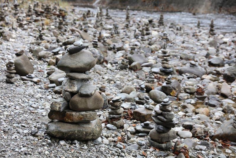 岩石石标 免版税库存照片