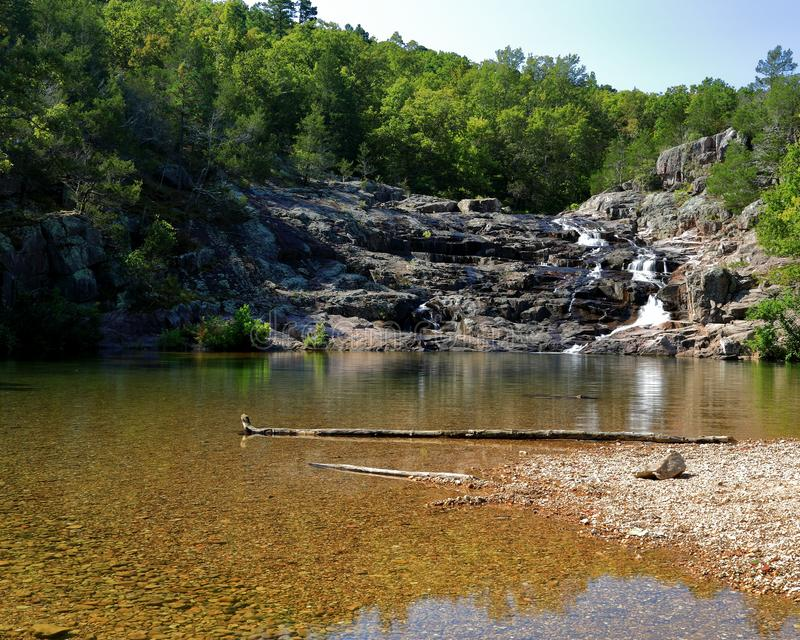 岩石秋天公园在密苏里 免版税图库摄影