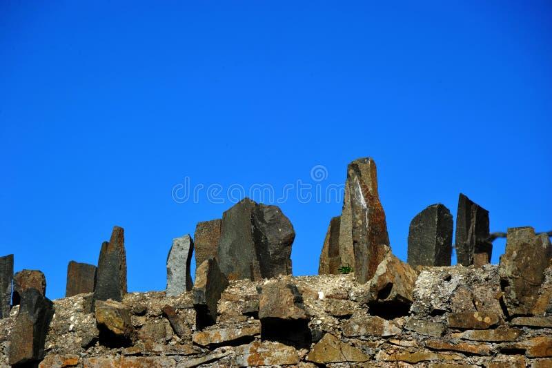 岩石篱芭 图库摄影