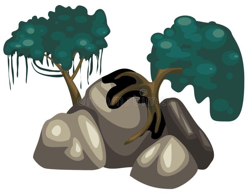 岩石结构树 向量例证