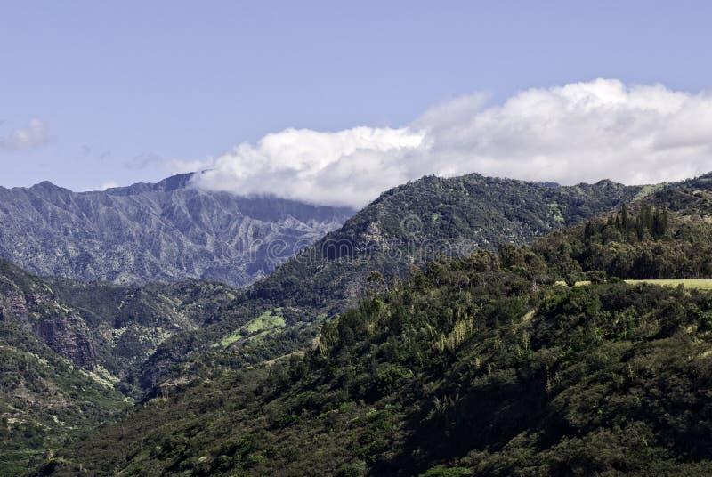 岩石考艾岛,夏威夷山 免版税库存照片