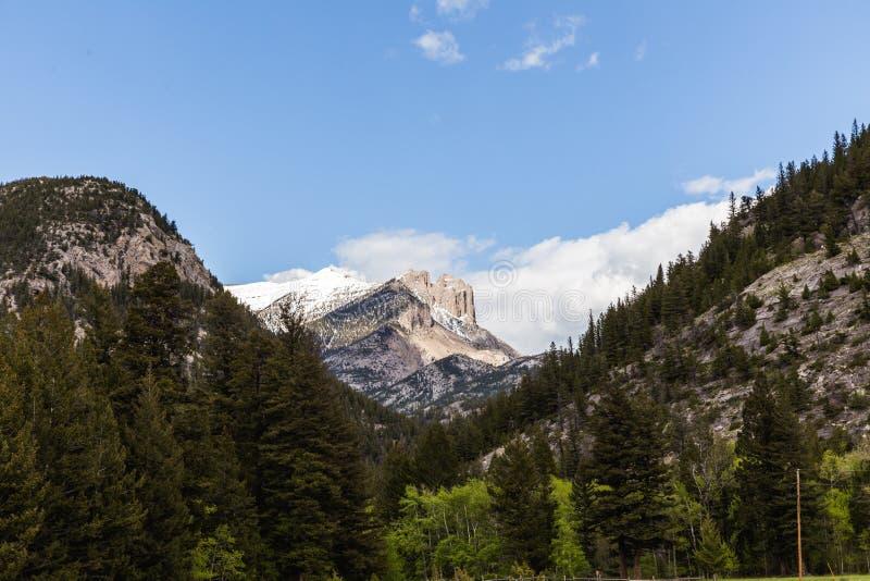 岩石蒙大拿的山 免版税库存图片