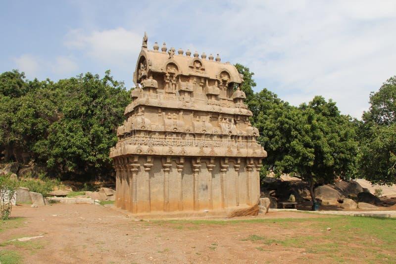 岩石裁减Ganesha寺庙 免版税库存照片