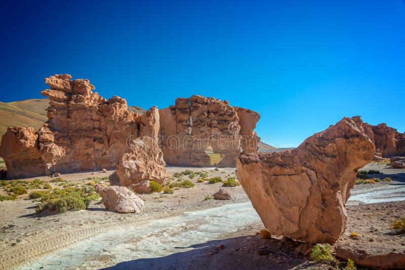 岩石谷在玻利维亚 库存照片