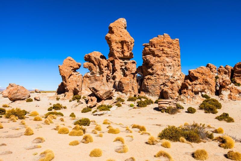 岩石谷,玻利维亚 库存照片