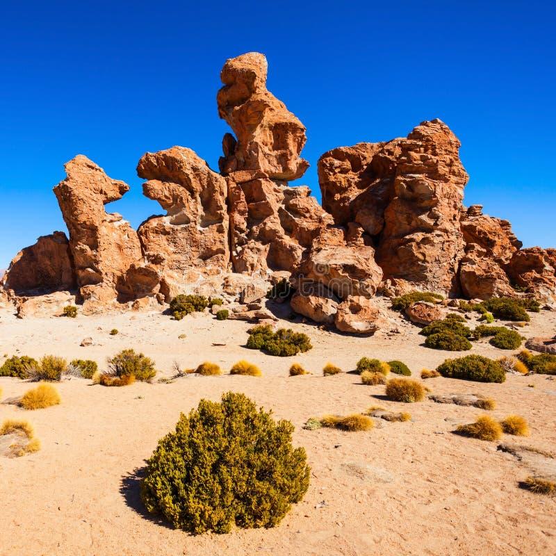 岩石谷,玻利维亚 免版税图库摄影