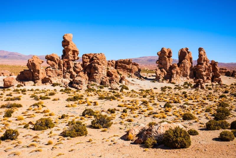 岩石谷,玻利维亚 免版税库存图片