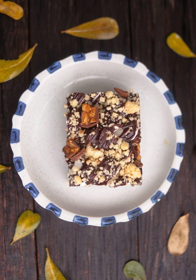 岩石路果仁巧克力 库存照片